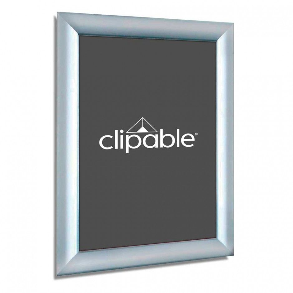 25mm silver snap front opening poster frame a4