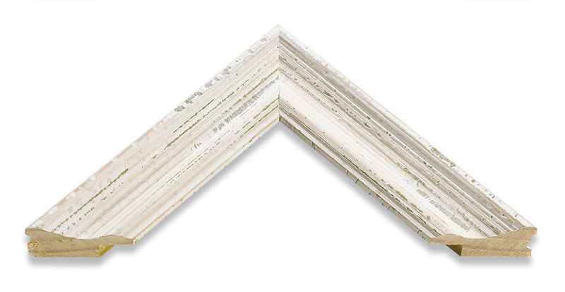 Artisan wooden picture frame distressed white 60x80cm - White wooden picture frames ...