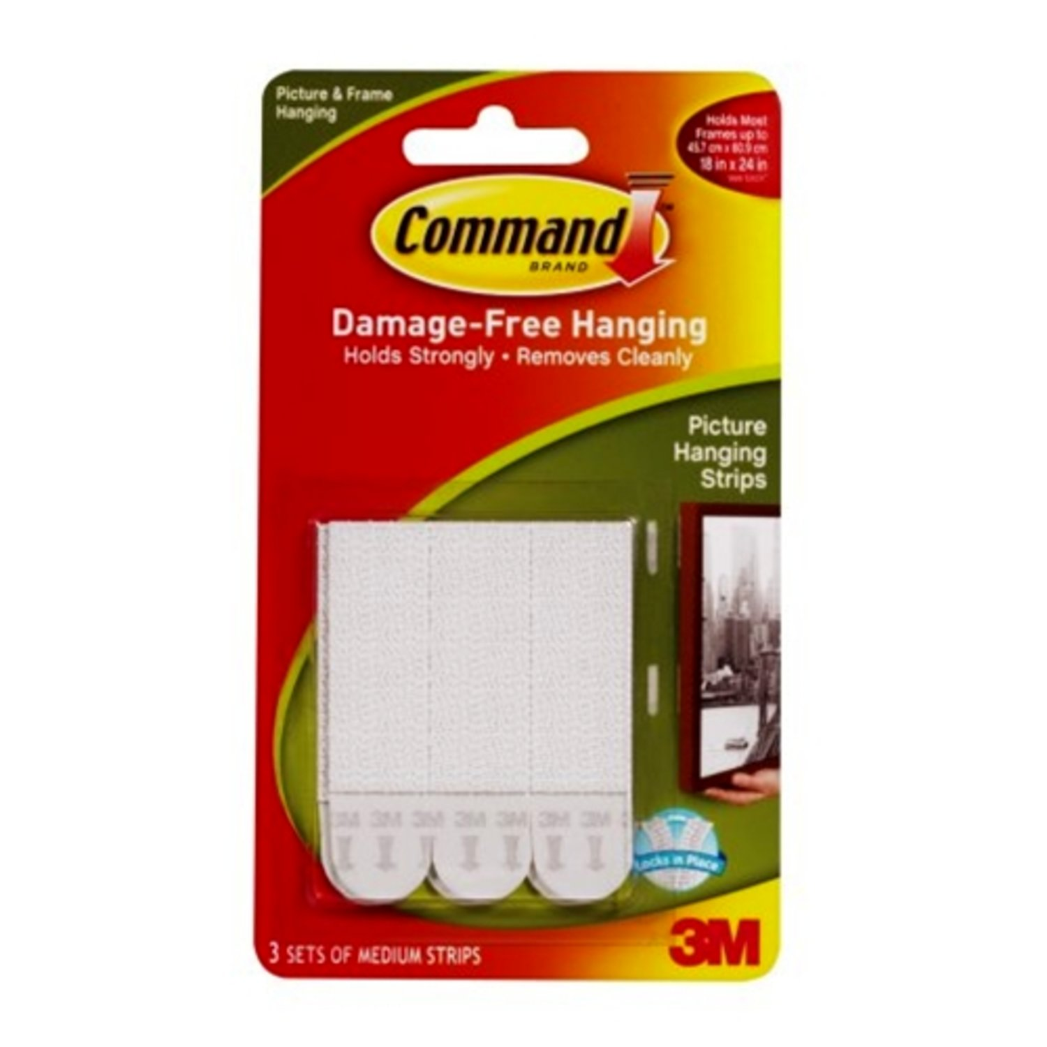 Command Picture Amp Mirror Hanging Strips Medium 1kg For