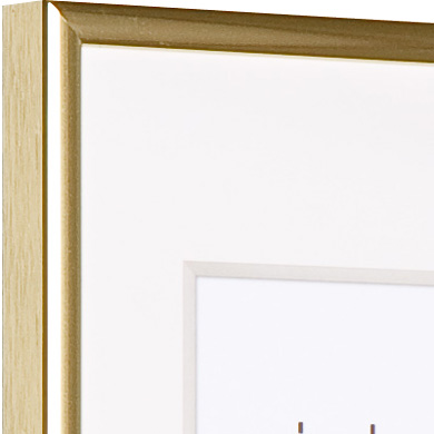 Classic Metal Picture Frame Slim Profile Polished Gold 50x70cm