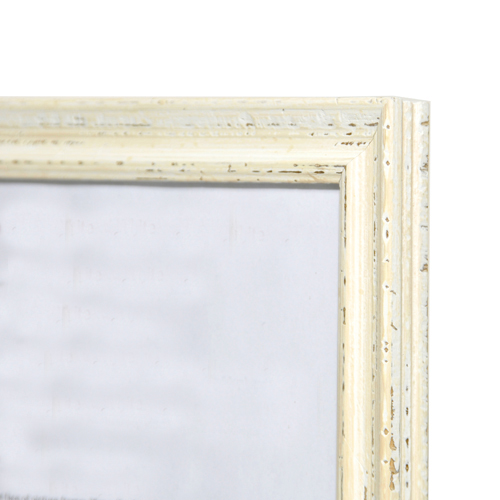 Artisan Wooden Picture Frame Distressed White A4 210x297cm