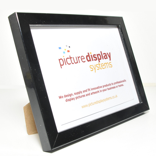 Contemporary Cube Wooden Photo Frame Black Gloss 6 X 4 15cm By 10cm