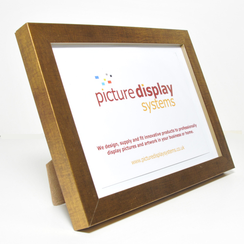 Contemporary Cube Wooden Photo Frame Dark Gold 7 X 5 18cm By 13cm