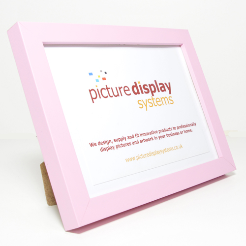 Contemporary Cube Wooden Photo Frame Pink A4 21.0cm x 29.7cm
