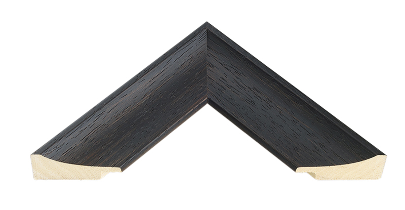 Curved Black Open Grain Picture Frame