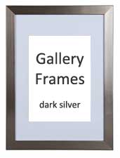 Gallery Wooden Picture Frame Dark Silver 24x30cm With 7 X 9 Mount