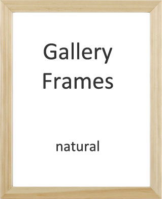 Gallery Wooden Picture Frame Natural 24x30cm With 7 X 9 Mount