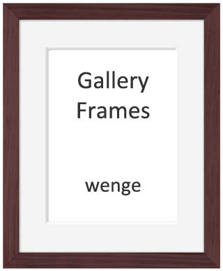 Gallery Wooden Picture Frame Wenge 24x30cm With 7 X 9 Mount
