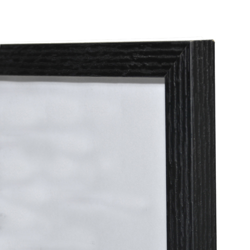Linear Grain Wooden Picture Frame Black A2 420x594cm