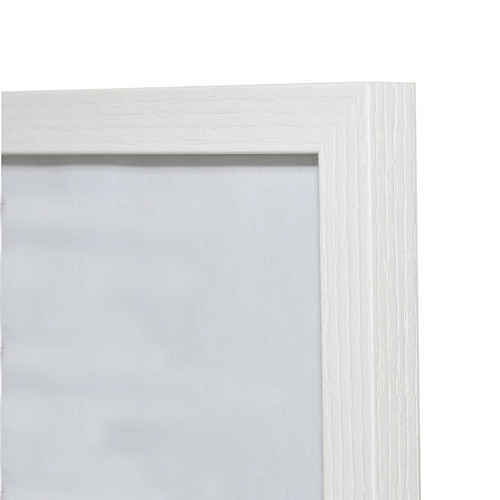 Linear Grain Wooden Picture Frame White A4 210x297cm